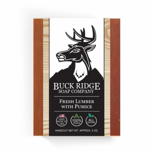 Buck Ridge Soap RB-LUMPUM-1 Fresh Lumber with Pumice Handmade Soap Perspective: front