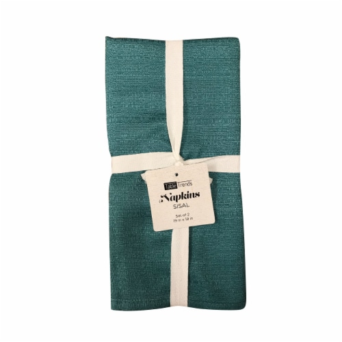 Arlee Home Fashions Sisal Napkins - Turquoise Perspective: front