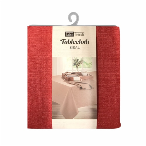 Arlee Home Fashions Table Trends Sisal Tablecloth - Red Perspective: front