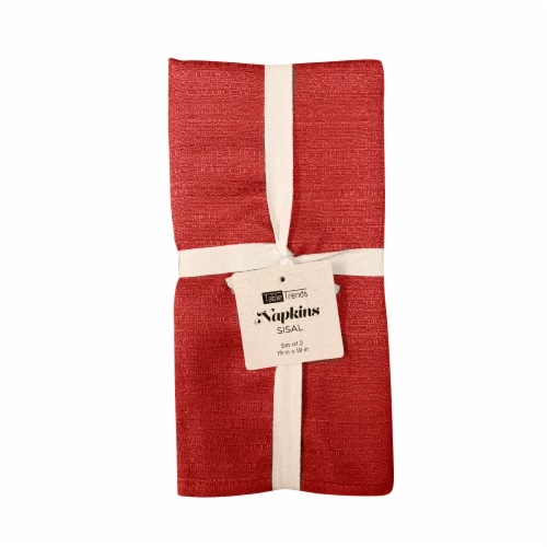 Arlee Home Fashions Table Trends Sisal Napkins - Red Perspective: front