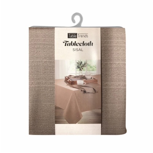 Arlee Home Fashions TableTrends Sisal Tablecloth - Tan Perspective: front