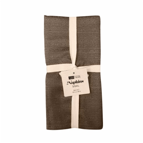 Arlee Home Fashions Table Trends Sisal Napkins - Tan Perspective: front