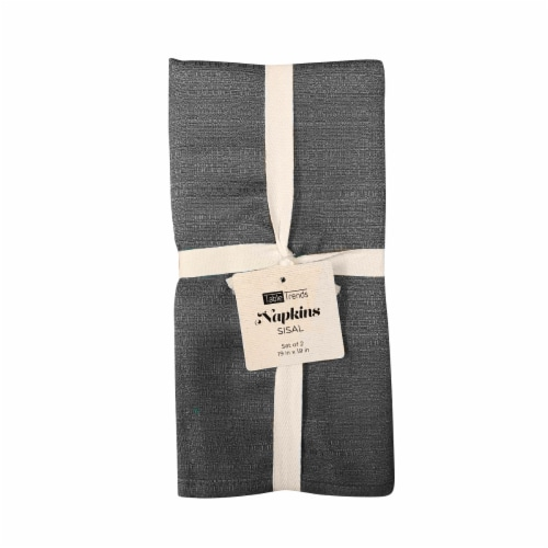 Arlee Home Fashions Table Trends Sisal Napkins - Gray Perspective: front