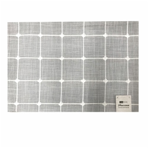 Arlee Home Fashions Table Trends Placemat - Windowpane Plaid Perspective: front
