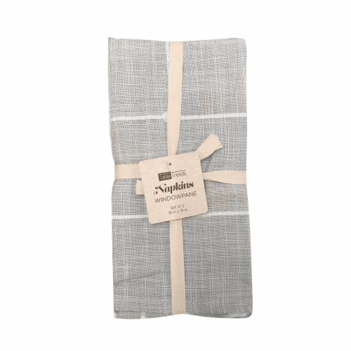 Arlee Home Fashions Table Trends Napkins - Windowpane Plaid Perspective: front