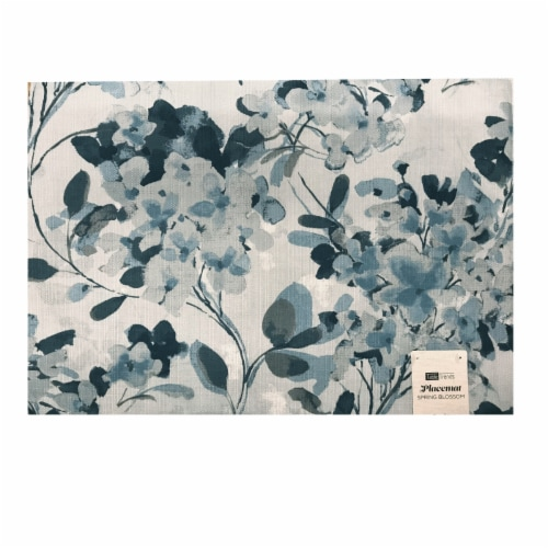 Arlee Home Fashions Table Trends Placemat - Spring Blossom Blue Perspective: front