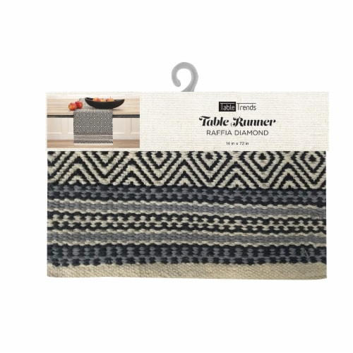 Arlee Home Fashions Raffia Diamond Table Runner Perspective: front