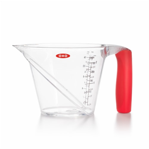 OXO SoftWorks Angled Measuring Cup - Clear Perspective: front