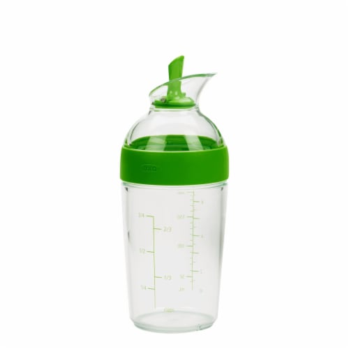 OXO Good Grips Salad Dressing Shaker - Green / Clear Perspective: front