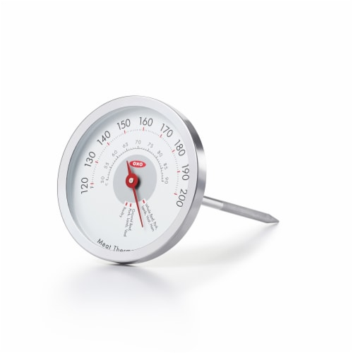 OXO Good Grips Chef's Precision Leave-In Analog Meat Thermometer - Silver Perspective: front