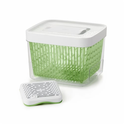 OXO Greensaver Produce Keeper - Clear/Green Perspective: front