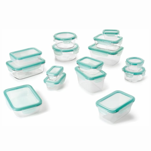 OXO Good Grips 30 Piece Food Storage Container Set with Matching Lids, Clear Perspective: front