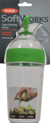 OXO Soft Works Salad Dressing Shaker - Green/Clear Perspective: front