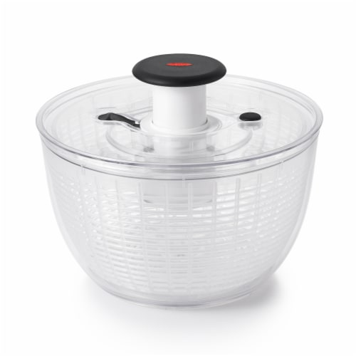 OXO Soft Works Salad Spinner - Clear/White Perspective: front