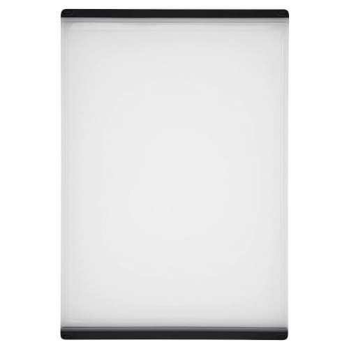 OXO Good Grips Non Slip Kitchen Double Sided Carving and Cutting Board, Clear Perspective: front