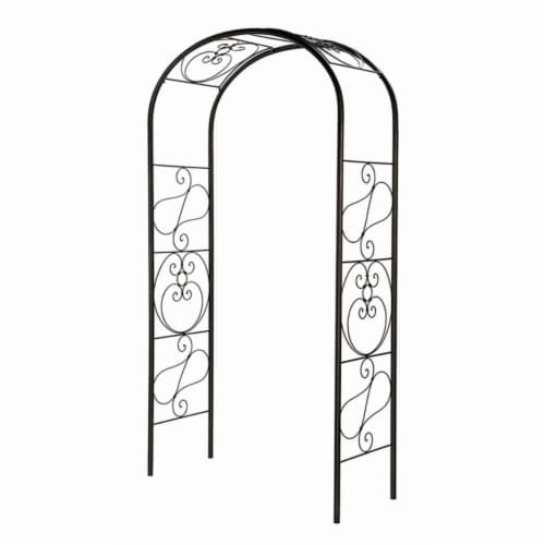 Achla ARB-27 7''L x 26''W x 81''H Wrought Iron Ferro Firenze Arbor Perspective: front