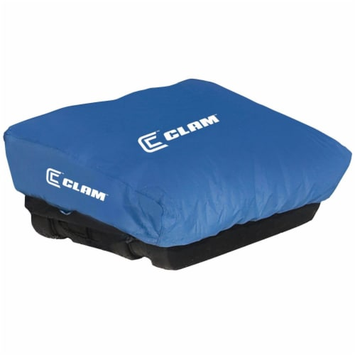 CLAM Travel PopUp Cover for Nanook, Guide, Blazer & Nordic Sled Ice Fish Shelter Perspective: front