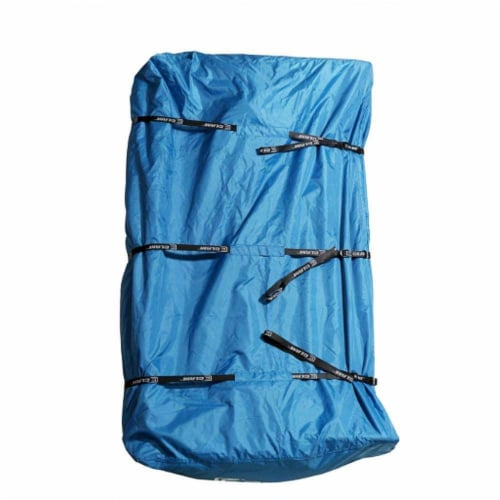 CLAM 12592 Outdoor Durable Polyester Ice Fishing Tent Shelter Travel Cover, Blue Perspective: front