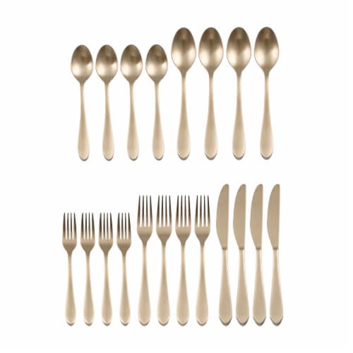 Fiesta Maraca Flatware Set - Champagne Satin Finish Perspective: front