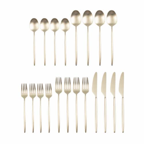 Cambridge Silversmiths Gaze Flatware Set - Champagne Satin Perspective: front