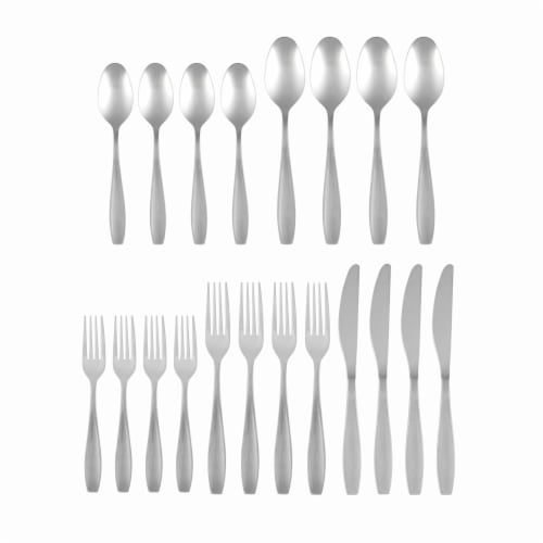 Cambridge Silversmiths Tyrus Flatware Set - Satin Mirror Perspective: front