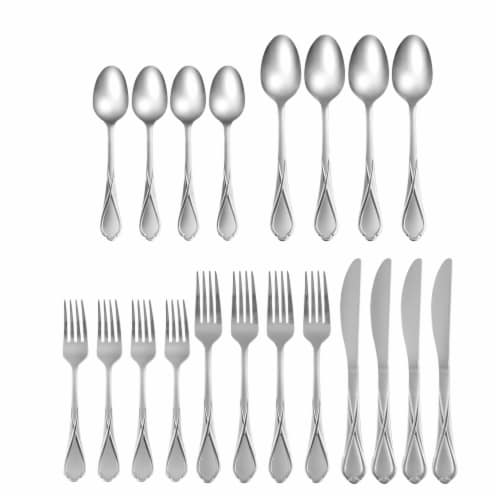 Cambridge Silversmiths Heather Flatware Set - Sand Perspective: front