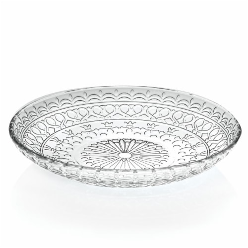 Lorren Home Trends 260490 7 in. 4 Piece Medici Fruit & Salad Plates Perspective: front