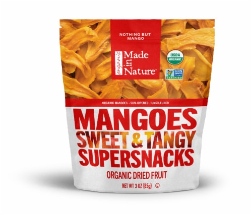 Made in Nature Organic Dried Mangoes Perspective: front