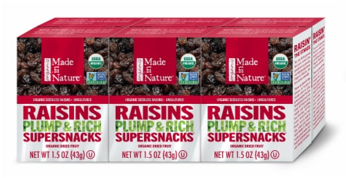 Made in Nature Organic Thompson Raisins Perspective: front