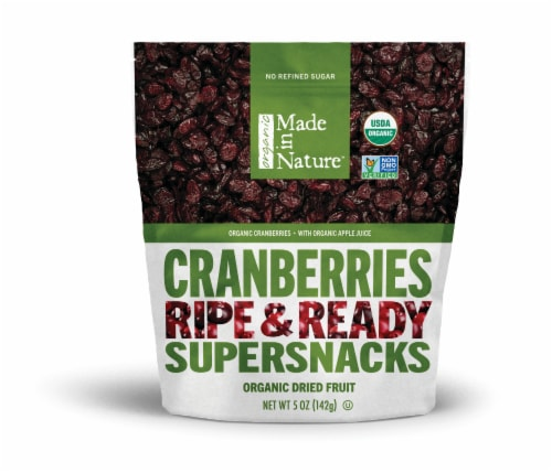 Made in Nature Organic Dried Cranberries Perspective: front