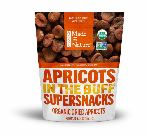 Made in Nature Organic Dried Apricots Supersnacks Perspective: front