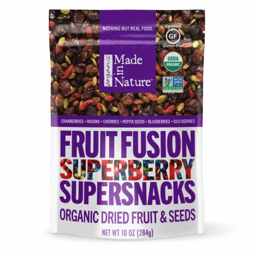 Made in Nature Organic Fruit Fusion Dried Fruits and Seeds Perspective: front