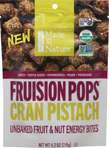 Made in Nature Organic Figgy Pops Cranberry Pistachio Supersnacks Perspective: front