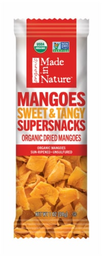 Made in Nature Organic Sweet & Tangy Dried Mangoes Perspective: front