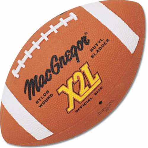 MacGregor X2L Official Football-Rubber Perspective: front