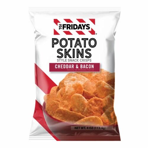 TGI Fridays Cheddar & Bacon Flavored Potato Skin Snacks Perspective: front