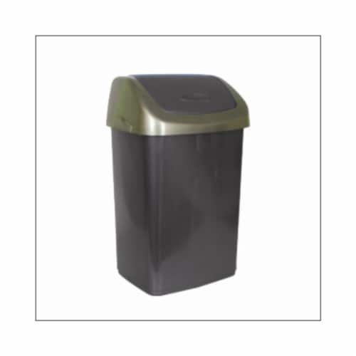 Star Dist 1227 6.6 gal Swing Top Trash Can Perspective: front