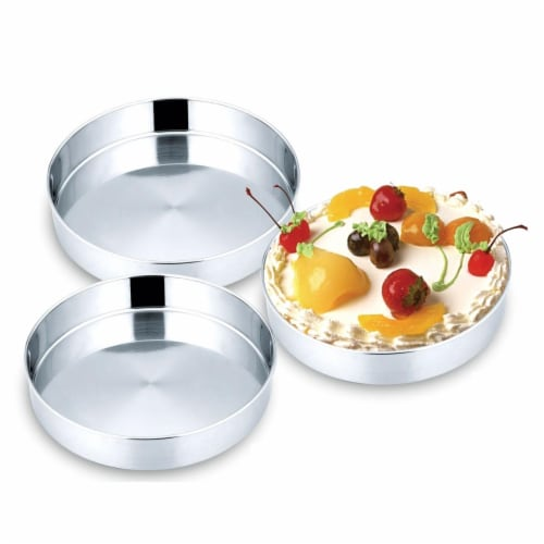 StarCrafts 2192 Stainless Steel Cake Tray Set - 3 Piece Perspective: front