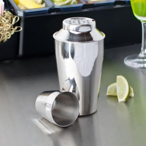Starcrafts 2335 16 oz Stainless Steel Cocktail Shaker Perspective: front