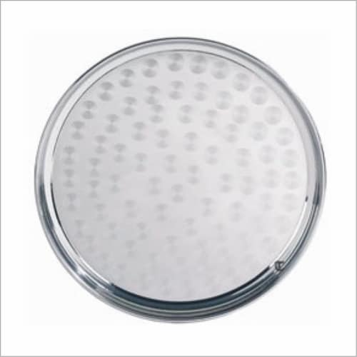 Star Dist 2355 10 in. Stainless Steel Round Tray Perspective: front