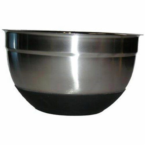 Star Dist 82366 Stainless Steel German Nonskid 10.2 in. Bowl with Silicon Base Perspective: front