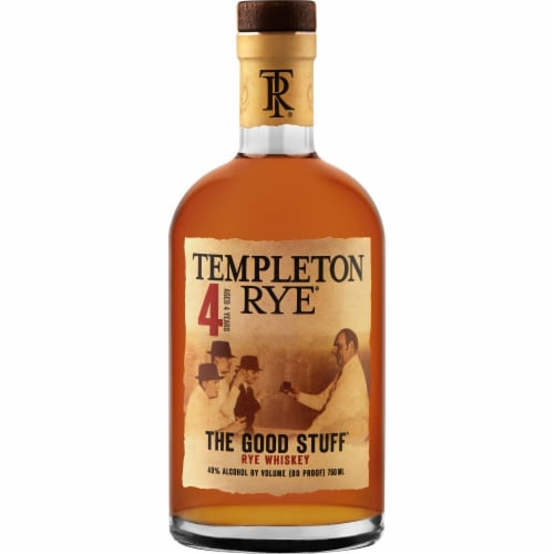 Templeton Rye Small Batch Rye Whiskey Perspective: front