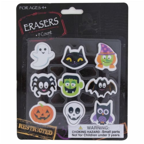 DDI 2340066 9 Count Halloween Erasers Case of 36 Perspective: front