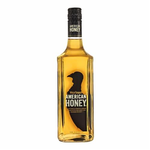 Wild Turkey American Honey Bourbon Whiskey Perspective: front