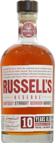 Russell's Reserve Small Batch Bourbon Whiskey Perspective: front