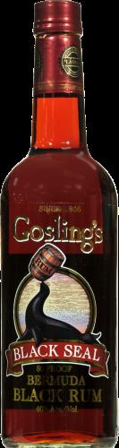 Gosling's Black Seal Rum Perspective: front
