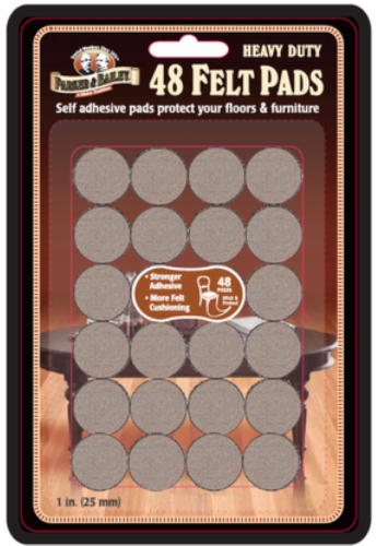Parker & Bailey Heavy Duty Felt Pads - Oatmeal Perspective: front