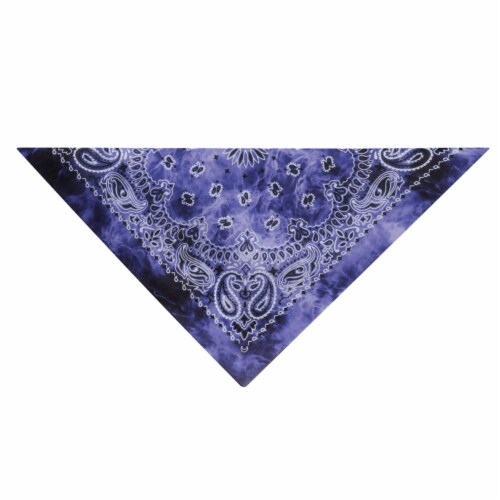 Aria Purple Ty-Dye Bandana - Case Of: 1; Perspective: front
