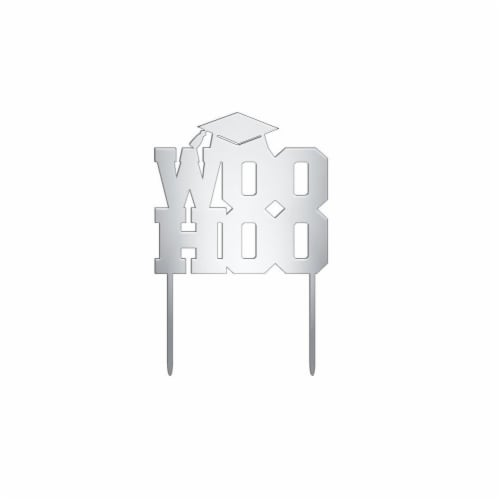 DecoPac Graduation Woohoo Cake Topper Perspective: front