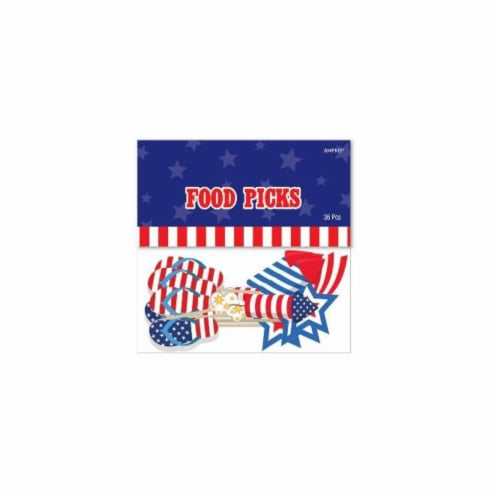 Ampro Patriotic Food Pics - Red/Blue/White Perspective: front